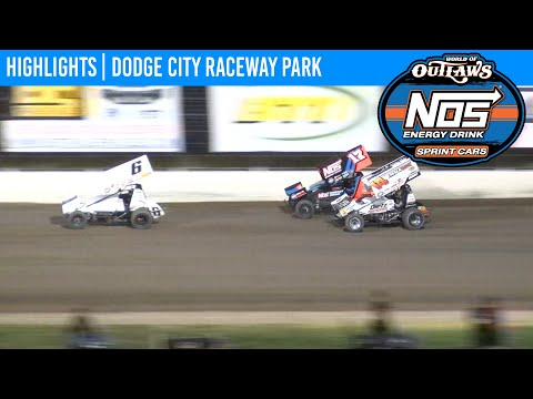 World of Outlaws NOS Energy Drink Sprint Cars Dodge City Raceway September 12, 2020 | HIGHLIGHTS