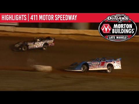 World of Outlaws Morton Buildings Late Models 411 Motor Speedway October 3, 2020 | HIGHLIGHTS