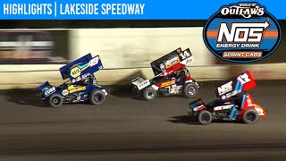 World of Outlaws NOS Energy Drink Sprint Cars Lakeside Speedway October 16, 2020 | HIGHLIGHTS
