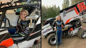 Carly's First Time In A Sprint Car!