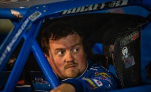 Brandon Sheppard inside of car