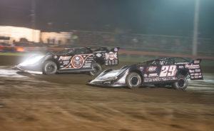 Bloomquist races with Darrell Lanigan