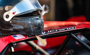 Bruening prepares to race