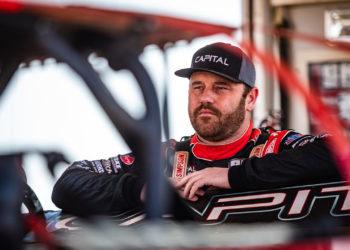 Tyler Breuning prepares to race