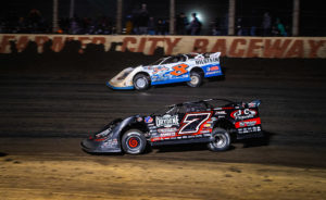 Kyle Strickler races with Ricky Weiss