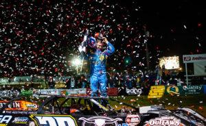 T-Mac celebrates in Victory Lane
