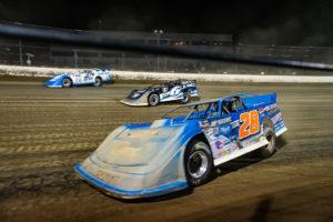 Dennis Erb Jr. races on the bottom at Eldora