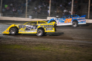 Jimmy Mars and Dennis Erb battle for the lead