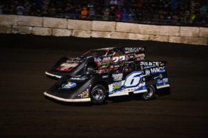 Kyle Larson passes Bobby Pierce for the lead