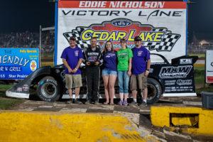 Mark Whitener wins the F.A.N.S Fund Dash