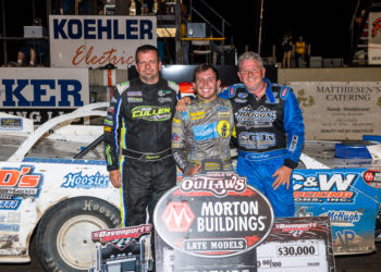 Top 3 at Davenport Speedway