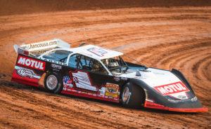 Brent Larson rips around Gondik Law Speedway