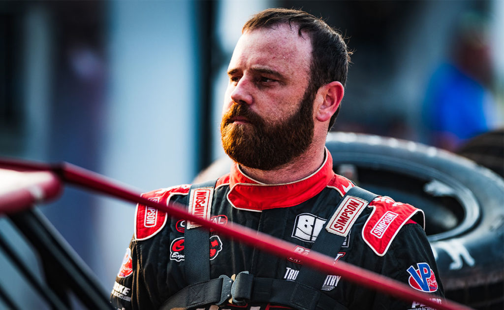 Tyler Bruening prepares to race at Gondik Law Speedway